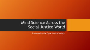Mind Science Across the Social Justice World