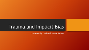 Trauma and Implicit Bias